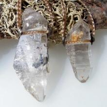 ガネーシュヒマール産ヒマラヤ水晶ペアネックレス☆天然石パワーストーンハンドメイドアクセサリー