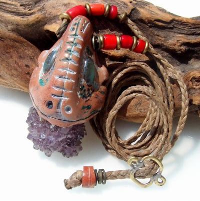 アメジスト(紫水晶)カクタスクオーツとラブラドライトの天然石パワーストーンネックレス☆ハンドメイドアクセサリー