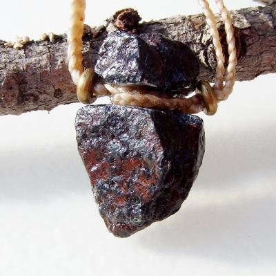 ギベオン隕石ペンダントネックレス★天然石ハンドメイドアクセサリー